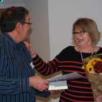 Marilyn receiving her 10 year Long Service Award