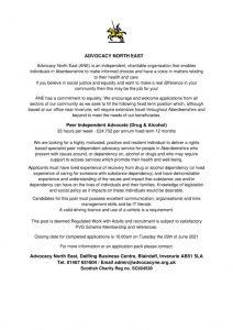 thumbnail of Recruitment Advert D&A June 2021